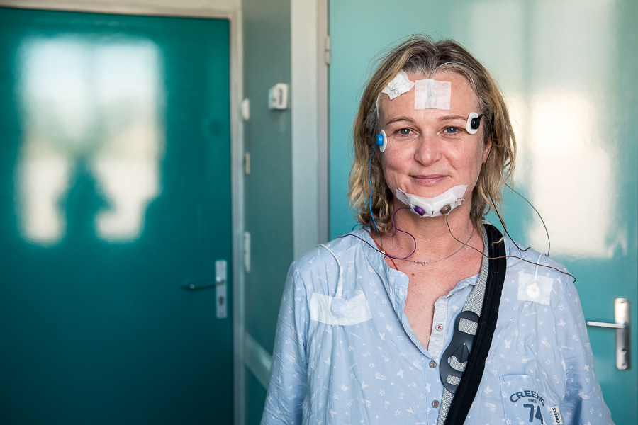 Exploration des troubles du sommeil à la clinique mutualiste Beau Soleil de Montpellier. ©Amélie Laurin