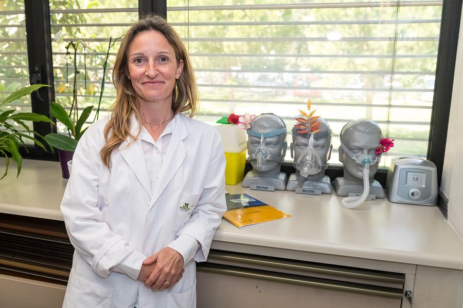 Valérie Cochen de Cock, neurologue au pôle sommeil de Beau Soleil. ©Amélie Laurin