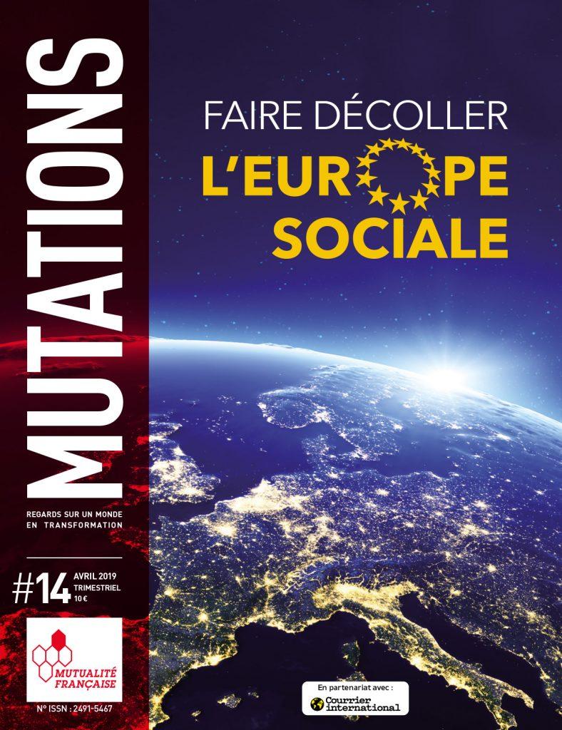 Mutations #14 : Une du magazine sur l'Europe sociale.