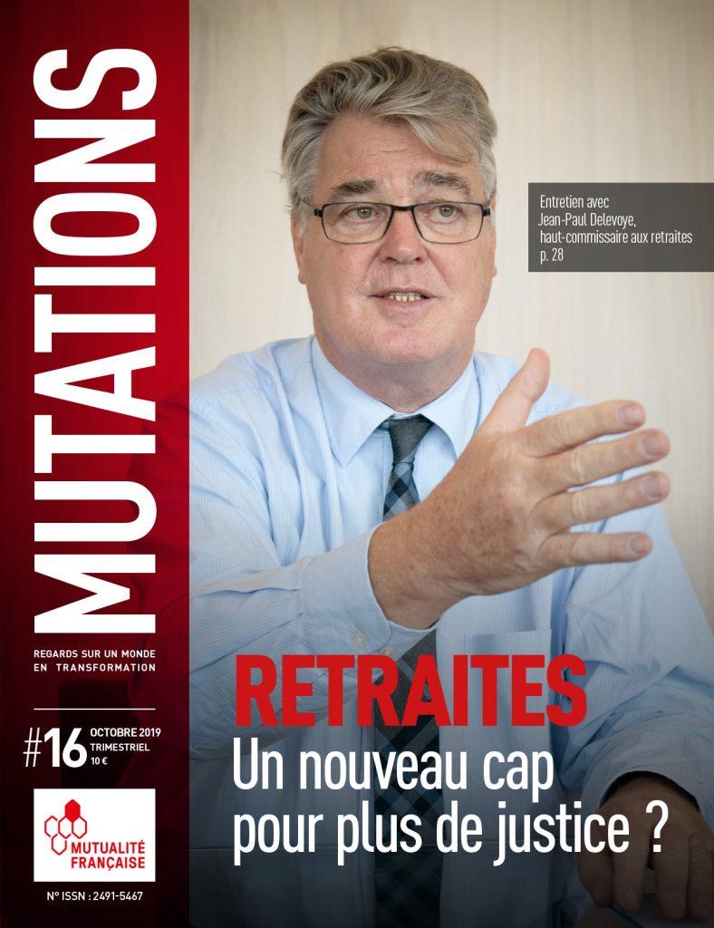 Mutations #16 : Une du magazine sur les retraites.