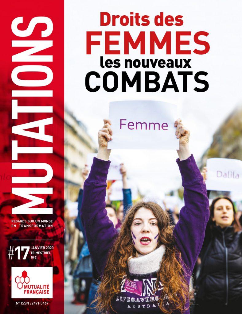 Mutations #17 : Une du magazine sur les droits des femmes.