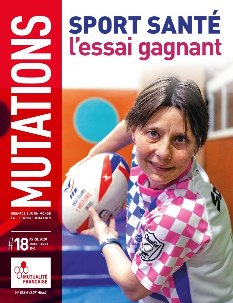 Mutations #18 : Une du magazine sur le sport santé.