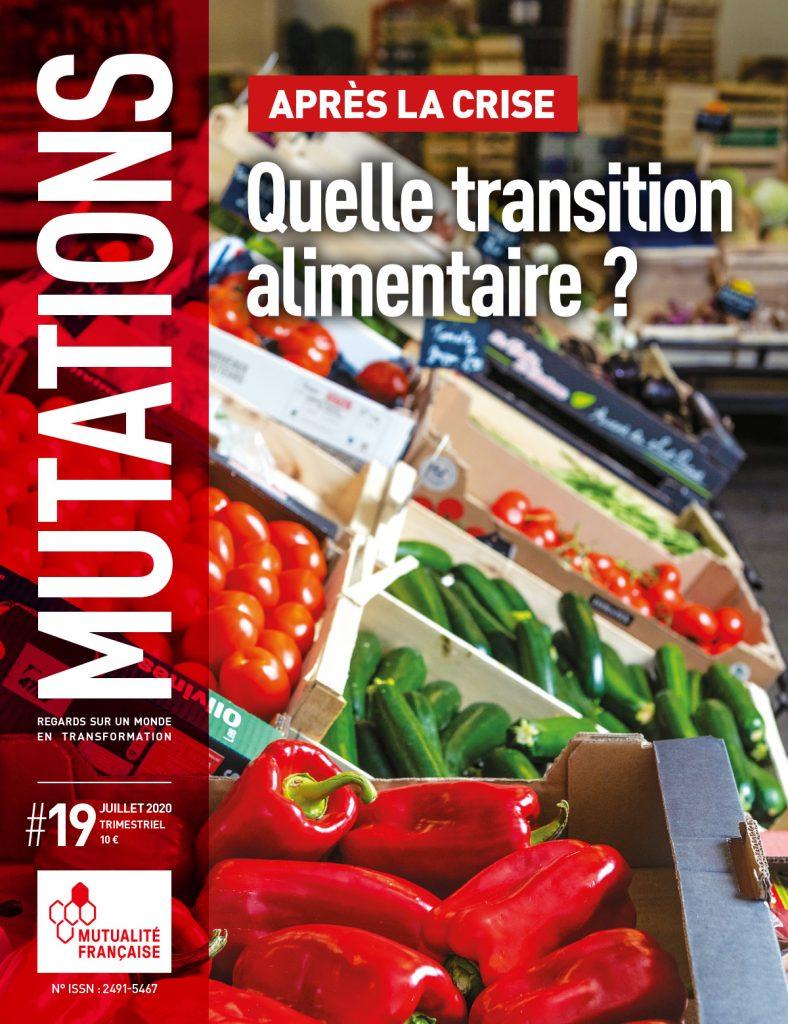 Mutations #19 : Une du magazine sur l'alimentation.