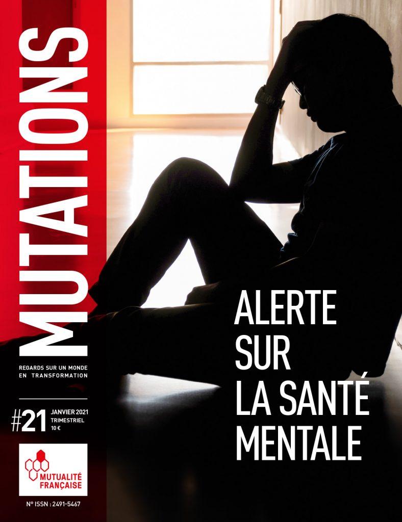 Mutations #21 : Une du magazine sur la santé mentale.