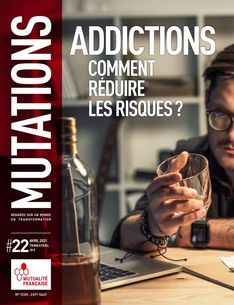 Mutations #22 : Une du magazine sur les addictions.