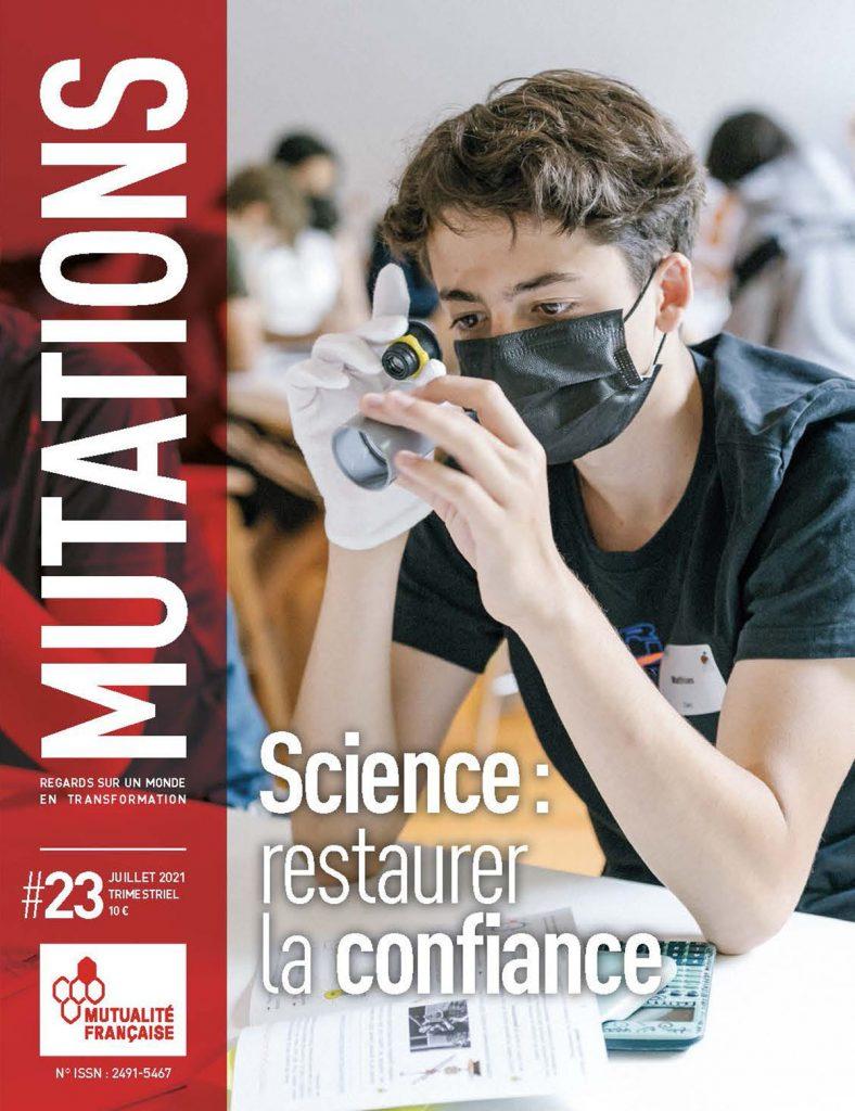 Mutations #23 : Une du magazine sur la science.